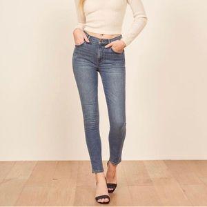 NWT Reformation Mid Skinny Classic Rhine Jeans 26
